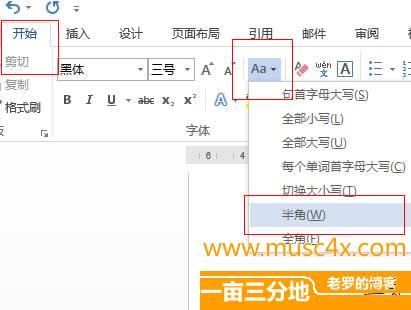 word2013全角和半角之间转换
